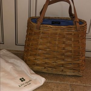 adorable wicker kate spade bag